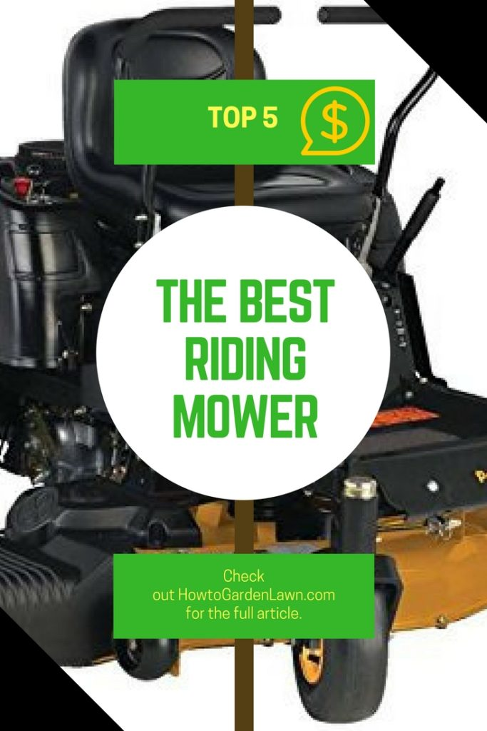 Best riding mower - Top 5 list based on user reviews and free delivery