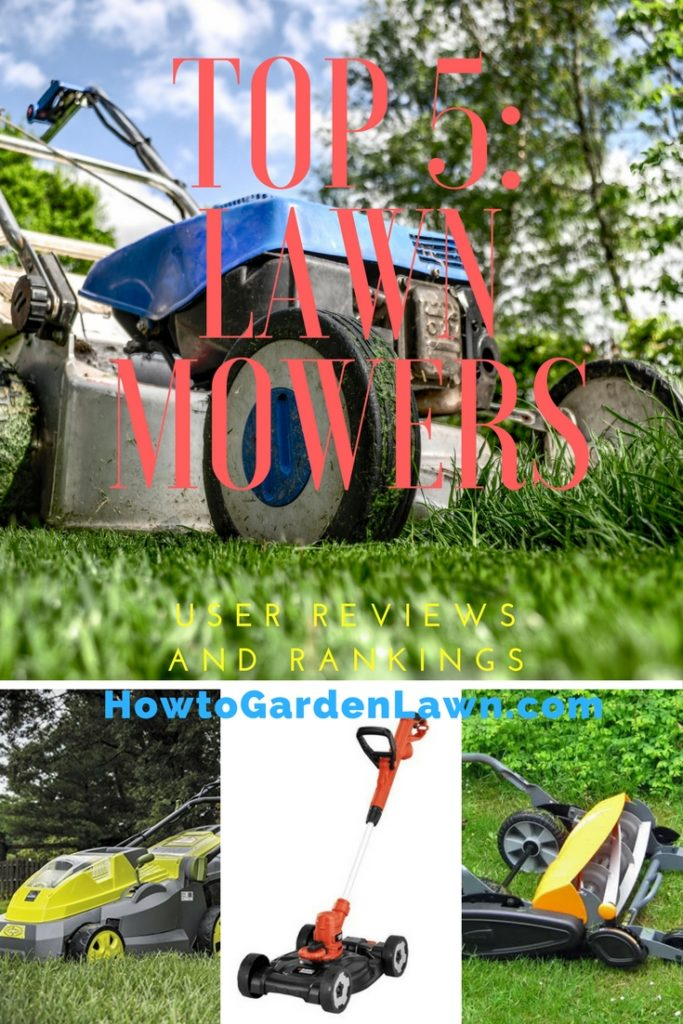 Best lawn mower - Top 5 rankings based on lawn mower type/category.